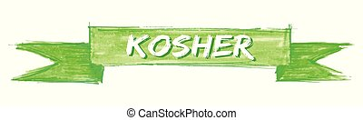 kosher ribbon - kosher hand painted ribbon sign