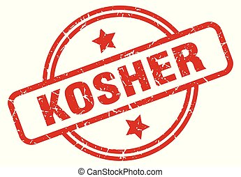 kosher round grunge isolated stamp