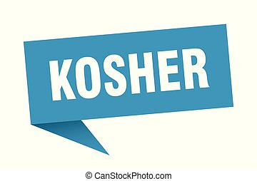 kosher speech bubble. kosher sign. kosher banner