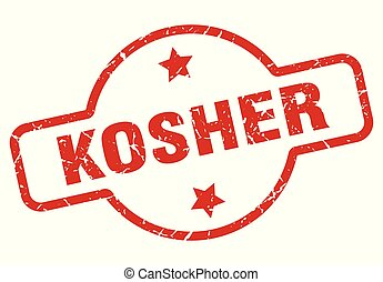 kosher stamp isolated on white