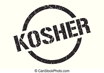 kosher stamp - kosher black round stamp