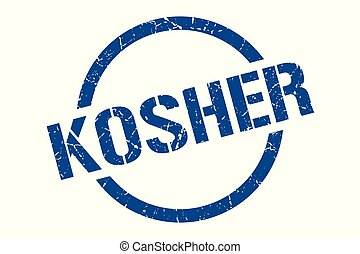 kosher stamp - kosher blue round stamp