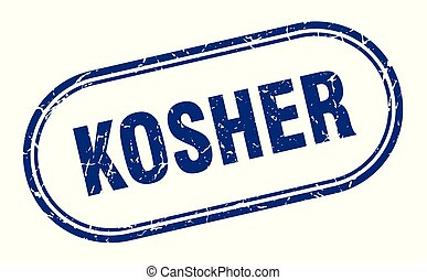 kosher stamp. kosher square grunge sign. kosher