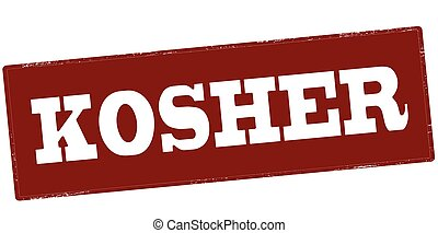Kosher - Stamp with word kosher inside, vector illustration