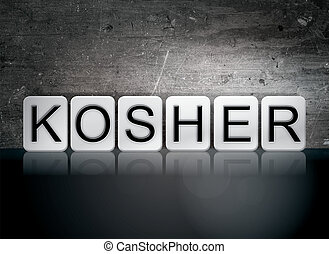 Kosher Tiled Letters Concept and Theme