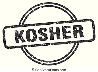 kosher vintage stamp. kosher sign