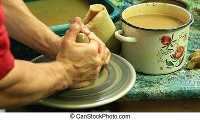 ceramic manufacturing process - Kosiv town Ivano-Frankivsk...