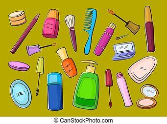 kosmetik, tilbehør