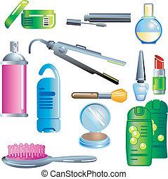kosmetika, produkter, skönhet