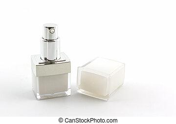 kosmetikartikel, flasche, packaging.