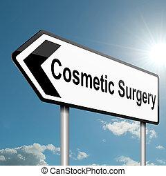 kosmetische chirurgie, concept.