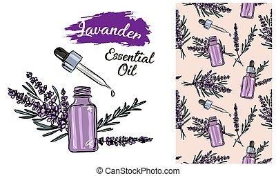 kosmetisk, kurort, alternativ, skönhet, teckning, isolerat, ...