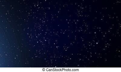 kosmiczny, abstrakcyjny, niebo, gwiaździsty