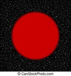 kosmisch, stern, rotes , hintergrund.