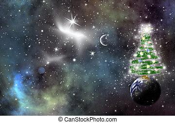 kosmisch, weihnachten