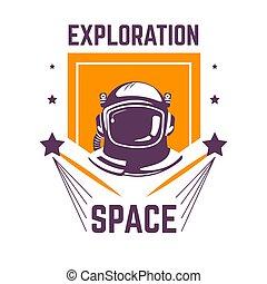 kosmita, przestrzeń, odizolowany, ciśnienie, badanie, ...