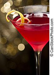 kosmopolit, cocktail, hos, citron, garnere
