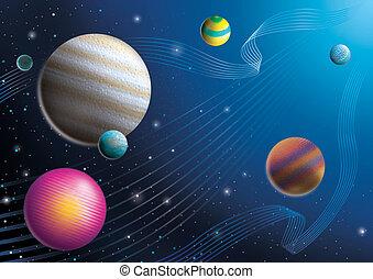 kosmos, zich voorstellen