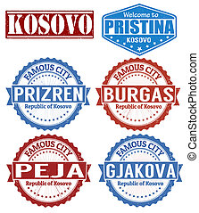 Kosovo cities stamps