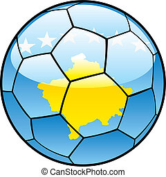 Kosovo flag on soccer ball