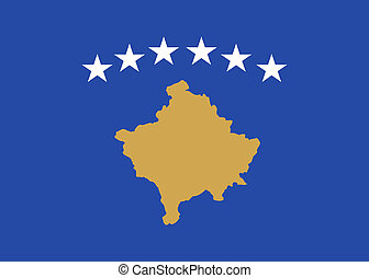 kosovo flag - national flag of kosovo country. world kosovo...
