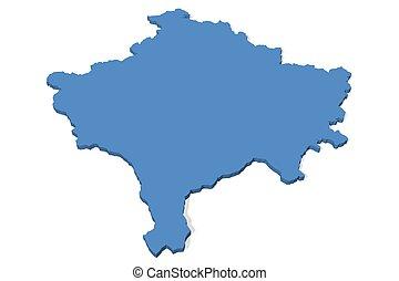 Kosovo Map Illustrations And Stock Art Kosovo Map - Kosovo map