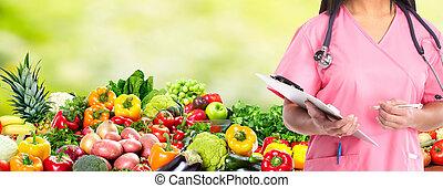 kost, och, hälsa, care.