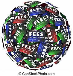 kosten, geld, darlehen, borgen, kredit, zahlungen, gebühren, karten, versteckt