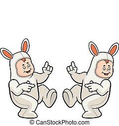 kostium, królik, taniec