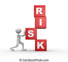 kostki, i, słowo, ryzyko