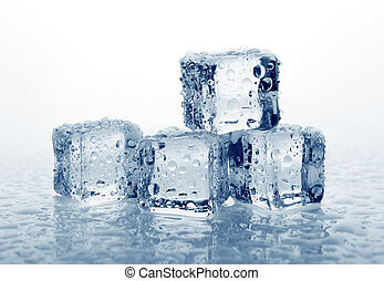 kostki, lód