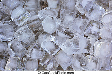 kostki, tło, lód