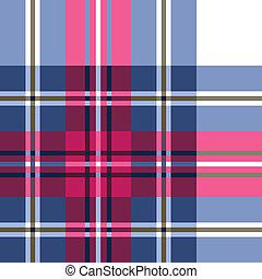 kostkovaná skotská látka, charakter