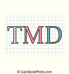 kostkovaný, tabule, napsáný, noviny, tmd, disorder), (temporomandibular