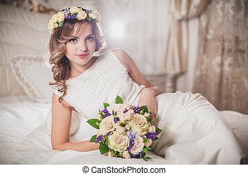 koszorú, esküvő, menyasszony
