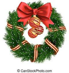 koszorú, karácsony, elszigetelt