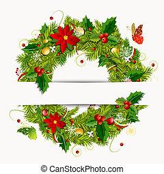 koszorú, tervezés, karácsony, -e