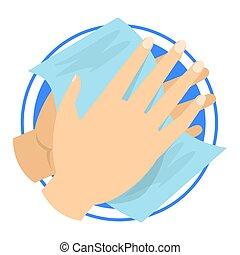 koszos, kezezés., healthcare., hands., mosás, gondolat