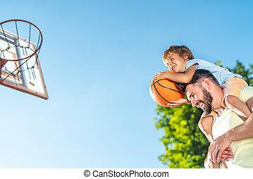 koszykówka, ojciec, interpretacja, syn