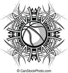 koszykówka, plemienny, brzegi