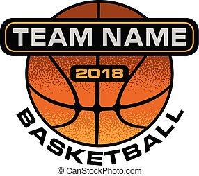 koszykówka, projektować, textured