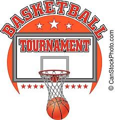 koszykówka, projektować, turniej