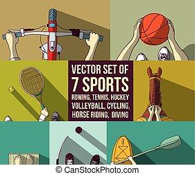 koszykówka, rower, wioślarstwo, tenis, lekkoatletyka, kajak...