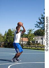 koszykówka, strzał