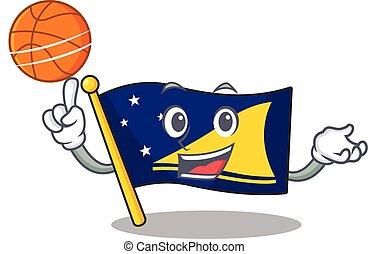koszykówka, woluta, interpretacja, litera, rysunek, ikona,...