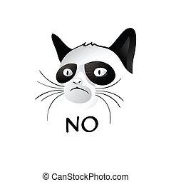 kot, mówi, nie