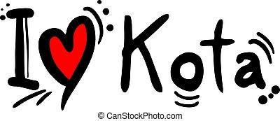 Kota, city of India, love message