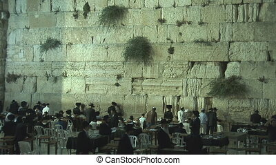 Kotel at night 1 - Kotel at night after shabat