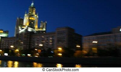 Kotelnicheskaya Embankment at evening