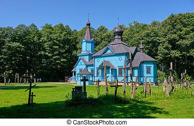 :koterka, ortodoxo, exterior, igreja